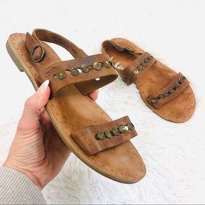 Frye Studded Flat Sandals Size 8.5